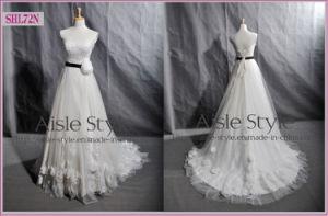 Romantic Hand-Made Roses Adorned Strapless a-Line Wedding Dress (SHL72N)