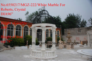White Carrara Qu Yang Stone Sculpture Marble Gazebo (SY-G008) pictures & photos