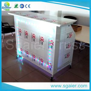 Outdoor Design Commercial Acrylic Folding Lighted Mini Bar Counter for School and Shop pictures & photos