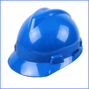 blue Color V Type Hard Safety Helmet for Construction pictures & photos