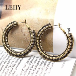 Fashion Punk Style Jewelry Fill with Crystal Hoop Earrings pictures & photos