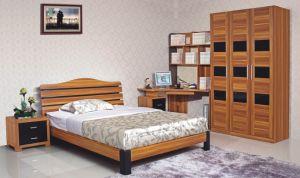 5PCS Durable Wooden Bedroom Set with Corner Study Desk (HH21BT) pictures & photos