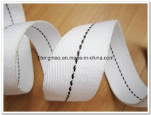20mm Cotton Webbing with Black Line pictures & photos