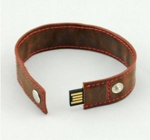 USB Flash drive OEM Logo Leather PU Wrist Band USB Stick USB Flash Disk USB memory Card USB 2.0 Flash Card Pendrives Memorystick Thumb Drive pictures & photos