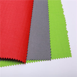 100% Polyester 210d Diamond/PVC Fabric for Bags pictures & photos