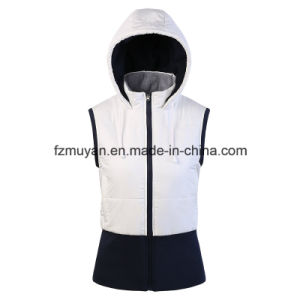 Thickened Hooded Sleeveless Jacket pictures & photos