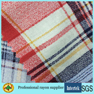 Plaid Printed Viscose Fabric Light Weight for Women Apparel pictures & photos