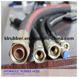 High Temperature Flexible Hydraulic Rubber Hose Assembly pictures & photos