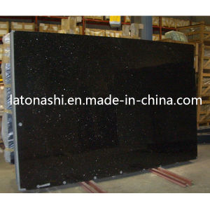 Black Galaxy Granite Stone Big Slab for Countertop, Paving, Tombstone pictures & photos