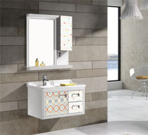 Modern Style Aluminum Bathroom Vanity with Side Cabinet (T-9718) pictures & photos