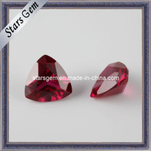 5# Ruby Trilliant Cut Semi-Precious Stone pictures & photos