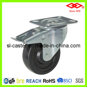 "5"" Swivel Plate with Brake Castor Wheel (P102-53B125X32S) pictures & photos"