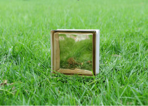 Beautiful Brown Cloudy Glass Brick pictures & photos
