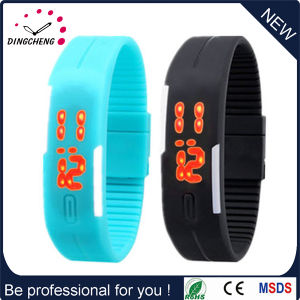 Silicone Bracelet Wristband LED Digital Watch (DC-1118) pictures & photos