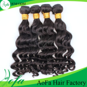 Aofa Factory Wholesale Top Quality Indian Remy Human Hair Weft pictures & photos