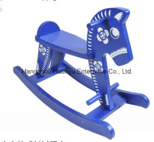 New Design Wooden Rocking Horse-Blue and White Porcelain Horse Rocker pictures & photos