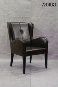 Wooden Armchair Bonded Leather Armchair (GK221)