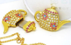 Jewelry Teapot Pendrive Flash Memory Stick USB Flash Drive pictures & photos