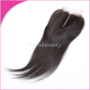 Brazilian Virgin Hair Straight Lace Closure Human Hair pictures & photos