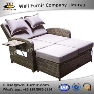 Well Furnir Wicker Love Seat Daybed with Cushion pictures & photos