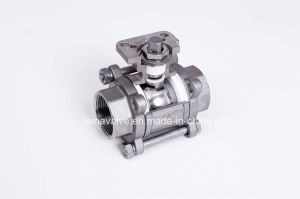 3PC with Top Mounting Pad 1000wog Ball Valve pictures & photos
