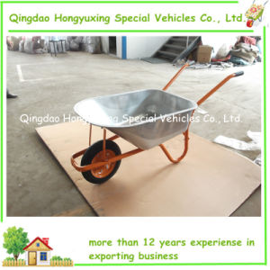 Hot Strong and Durable New Style Wheelbarrow with Two Parts Frame and Galvanized Tray (WB6404N)