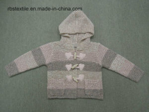 Girls Knitted Hoody Cardigan Sweater pictures & photos