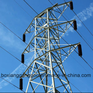 132kv Double Circuit Galvanized Suspension Tower