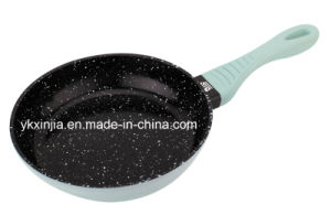 Kitchenware Forged Aluminum Marble Coating Deep Frying Pan with Soft Touch Handle pictures & photos