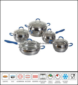 10PCS Stainless Steel Cookware Set pictures & photos