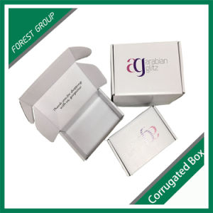 White Corrugated Boxes with Logo Printing pictures & photos