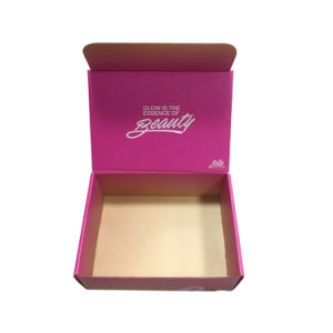 Customized Brand UV Spot Silver Gold Foiling Stamping Packaging Cosmetic Box pictures & photos