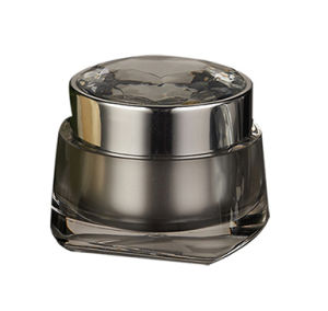 Diamond Shape Cosmetic Acrylic Cream Jar pictures & photos