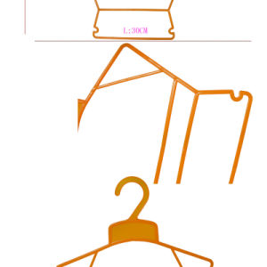 Import Hot Sale Market Plastic Baby Clothes Frame Hangers pictures & photos