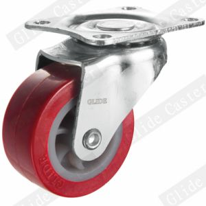 Light Duty PU Swivel Caster Red (G2201) pictures & photos