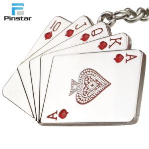 Kunshan Poker Metal No Minimum Custom Logo Ring Keychain pictures & photos