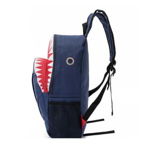 Fashion Designer Teenager Shark Canvas Backpack School Bag pictures & photos
