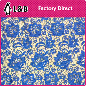 130cm Royal Blue Chemical Lace Fabric pictures & photos