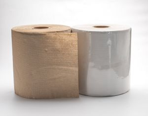 Recycle Pulp Hand Paper Towel with Brown/White Color pictures & photos