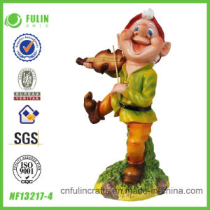 2014 Violin Playing Resin Garden Gnome Figurine (NF13217-4)