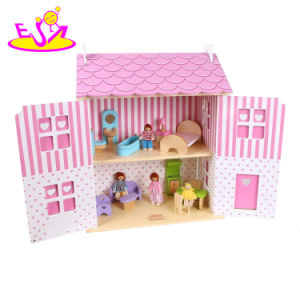 Colorful and Convenient Toy House Sets Wooden Dollhouse Miniatures with Multiple Functions W06A253 pictures & photos