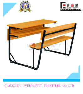 School Furniture Ergonomic Chairs with Table Attached Set for Sale pictures & photos