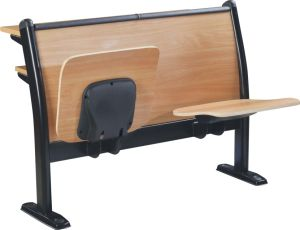 School Classroom Desk Chair Lecture Hall Seat University Auditorium Chair (S01) pictures & photos
