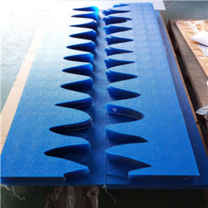 Blue Polycarbonate Embossed Sheet /Plexiglass Cut for Partition Wall pictures & photos