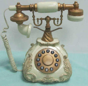 Resin Floral Telephone, Polyresin Phone (SF1131)