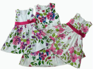 Girl Cotton Dress/Flower Girl Dress/Children Clothing/Children′s Wear pictures & photos