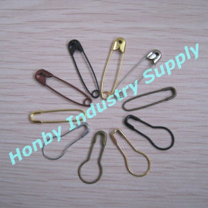 with Assorted Shapes and Colors of Metal Safety Pin for Hangtags