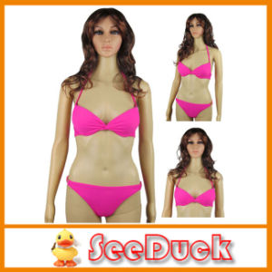 Women Fashion Pretty Push up Rose Red Sexy Swimsuit (KS610308)