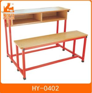 Kids Metal Plywood Study Table with Attached Chair pictures & photos