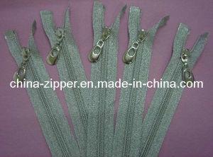 5# Nylon Silver Tape Zipper